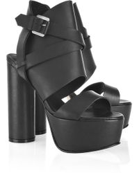 Surface To Air - Pandora High Leather Platform Sandals - Lyst