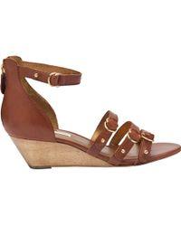 Twelfth Street Cynthia Vincent Mini-wedge Sandals - Lyst