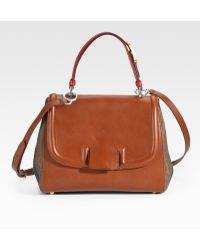 Fendi Striped Silvana Top Handle Bag - Lyst