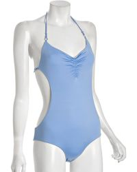 Shimmi | Periwinkle Cecil One Piece Halter Swimsuit | Lyst