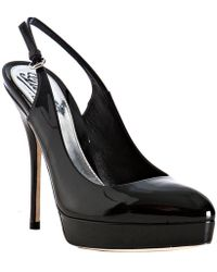 Gucci Black Patent Leather Platform Pumps - Lyst