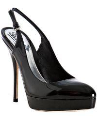 Gucci Black Patent Leather Platform Pumps black - Lyst