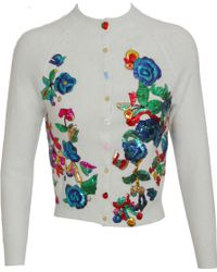 Meadham Kirchhoff - Cardigan with Tinsel Embroidery - Lyst