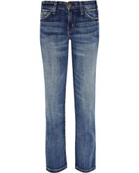 Current/Elliott The Matchstick Low-rise Cropped Straight-leg Jeans - Lyst