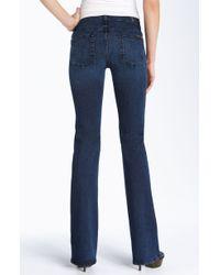7 For All Mankind The Skinny Bootcut Super Stretch Jeans (worn Indigo Wash) - Lyst