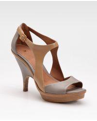 Leifsdottir - Two-tone Platform Sandals - Lyst