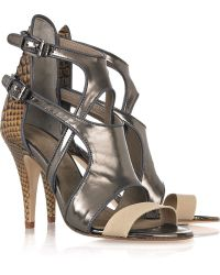 Surface To Air Open Cutout Leather Sandals - Lyst