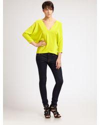 Boulee Skyler Open-back Shirt - Yellow