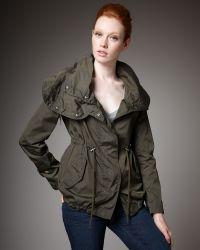 Moncler Nylon Drawstring Jacket - Lyst