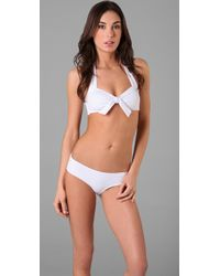 Lisa Curran - French Picot Retro Bikini Top - Lyst