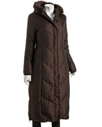 Via Spiga Java Quilted Marie Fur Trim Hooded Maxi Down Coat - Lyst