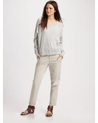 Vince Slub Knit Hi-low Sweater - Lyst
