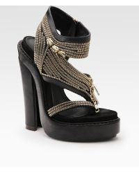 Givenchy Zipper Platform Sandals black - Lyst
