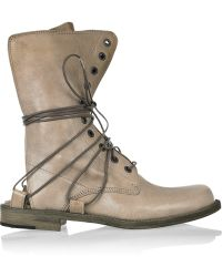 LD Tuttle The Grip Open-back Leather Boots - Brown