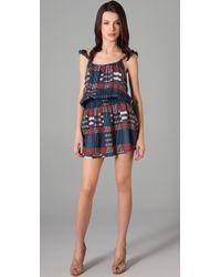 Tucker - Ruffle Cami Mini Dress - Lyst