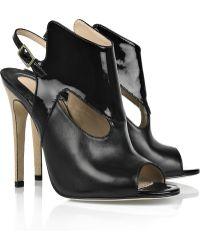 Camilla Skovgaard Leather Slingback Sandals black - Lyst