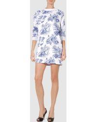 Jeremy Scott Short Dress white - Lyst