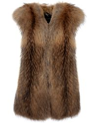 JOSEPH Racoon Fur Gillet - Brown