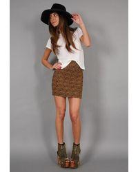 Pleasure Doing Business 9 Band Elastic Skirt In Leopard - Lyst