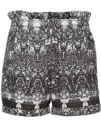 Stine Goya Flock Shorts - Black
