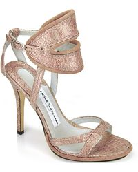 Camilla Skovgaard .2 - Metallic Blush Ankle Sandal - Lyst