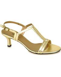 Vaneli - Marmor - Gold Metallic Leather Sandal - Lyst