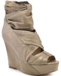 Boutique 9 Grigio - Taupe Leather - Lyst