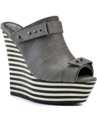 Rock & Republic Grace Wedge - Grey - Lyst