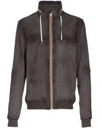Gold Bunny Camoscio Leather Jacket - Grey