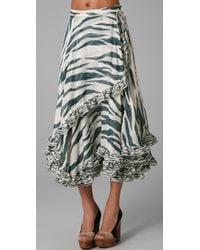 SUNO - Drawstring Ruffle Skirt - Lyst