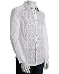 Robert Graham White Embroidered Cotton Atoll Button Front Shirt - Lyst