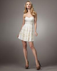 Leifsdottir - Raime Strapless Dress - Lyst