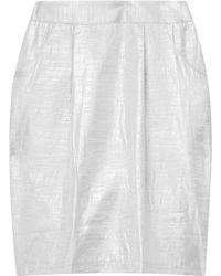 Adam Metallic Mini Skirt - Lyst
