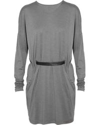 Clemens en August Belted Silk and Wool-blend Tunic - Lyst