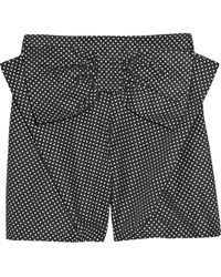 See By Chloé Bow-embellished Polka-dot Shorts gray - Lyst