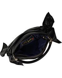 Z Spoke by Zac Posen Tie-side Leather Shoulder Bag - Black