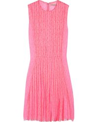 Christopher Kane Barbara Pleated Lace Dress - Lyst