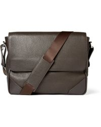 f6c88f09cc02 Dunhill - Leather Messenger Bag - Lyst