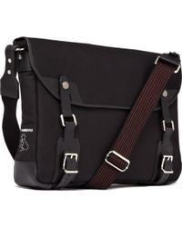 Bill Amberg - Canvas And Leather Messenger Bag - Lyst