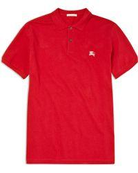 Burberry Brit - Pique Polo Shirt - Lyst