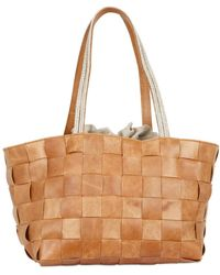 Diverso Italiano - Woven Leather and Linen Shoulder Bag - Lyst