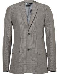 Marc By Marc Jacobs Plaid Linen Suit Jacket - Lyst