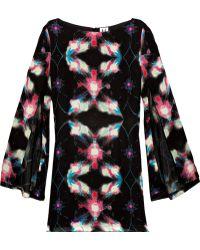 Halston Heritage Printed Silk Tunic Dress - Lyst