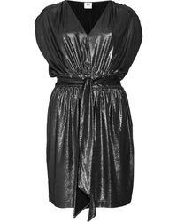 Halston Heritage Metallic Pebbled Lamé Dress - Lyst