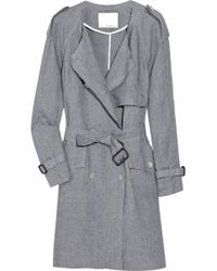 3.1 Phillip Lim Belted Linen Trench Coat - Lyst