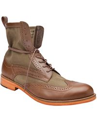 J SHOES - Andrew Boot in Brown/olive - Lyst