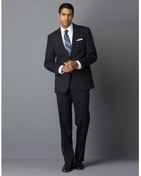 Calvin Klein Modern-Fit Navy Solid Wool Suit - Lyst