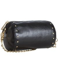 Botkier Black Leather Night Out Crossbody Clutch - Lyst