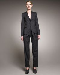 Armani - Pleated-front Paper-bag Pants - Lyst