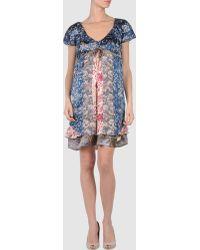 Odd Molly Multicolor Short Dress - Lyst